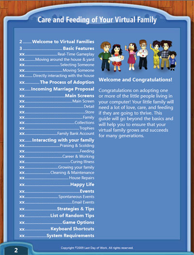 Virtual Families Game Guide Page 1